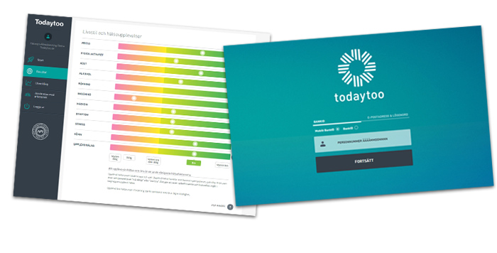 Bild på formulär till hälsokontroll