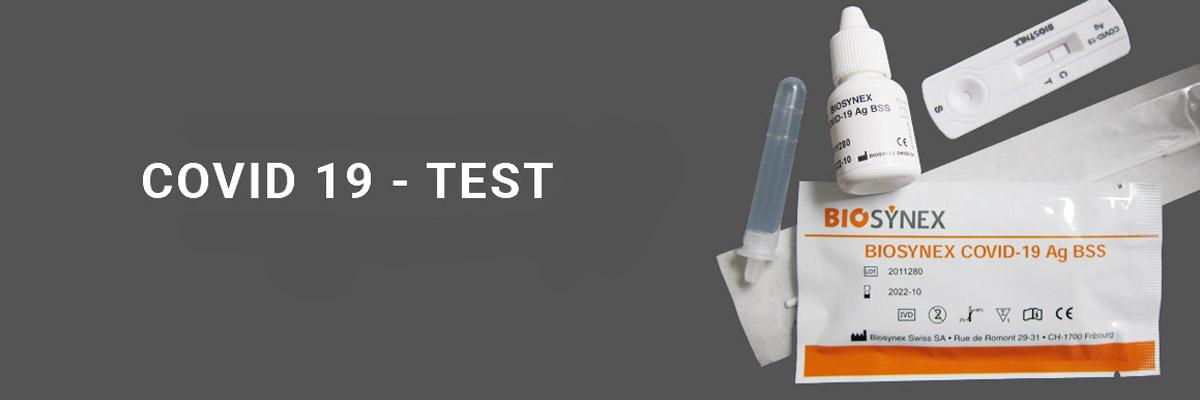 COVID-19test artiklarna som används för att ta antigentestet